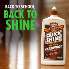 If you're like our family, kids and grandkids were running through your house 24/7 this summer. Back to school is the perfect time to shine your floors!