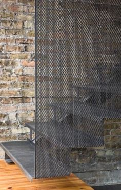 A perforated metal staircase is a great way to elevate interiors. Be inspired to step up your style with these top perforated metal staircase designs. Interior Stairs, Interior And Exterior, Interior Ideas, Escalier Design, Stair Handrail, Railings, Steel Stairs, Stair Detail, Modern Stairs