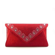 Afforable choice materials best Red Crystal messenger bags for work