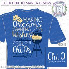 TGI Greek - Chi Omega - Philanthropy - Greek Apparel #tgigreek #chiomega