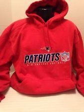 NFL New England Patriots Red Hooded Sweatshirt Men's  Size Xl