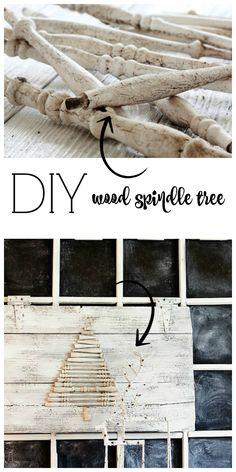 DIY Wood Spindle Tre