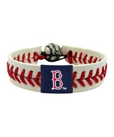 Take a look at this Boston Red Sox Classic Baseball Bracelet by GameWear on #zulily today!