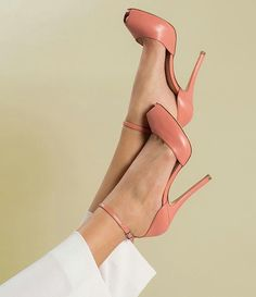 Some nice coral shoes High Heel Pumps, Stilettos, Pumps Heels, Stiletto Heels, Peep Toe Pumps, Pretty Shoes, Cute Shoes, Me Too Shoes, Gorgeous Heels