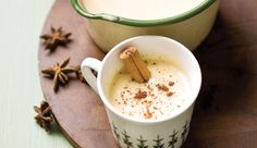 Drink in the flavours of the East Indies with vanilla, cinnamon and nutmeg infused into custard milk with a tot of rum! Fun Drinks, Yummy Drinks, Delicious Desserts, Eggnog Ingredients, Baking Recipes, Snack Recipes, Creative Snacks, Eggnog Recipe, Vanilla Custard