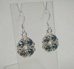 Free Chainmail Patterns Chain Maille | Chain Maille Flower Earrings in Pacific Opal Swarovski Crystal ...