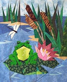 awesome paper piecing pattern- frog