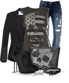"""""""The Skulls"""" by jliz516 ❤ liked on Polyvore"""