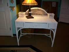 Wicker desk with drawer   Designed for Change