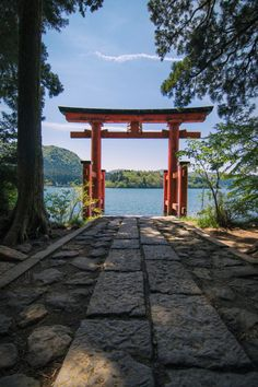 Hakone for a feature Architecture Du Japon, Hakone Japan, Japanese Shrine, Torii Gate, Aesthetic Japan, Japan Design, Tokyo Japan, Kyoto Japan, Japanese Culture
