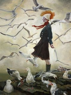On the Point, by Andrea Kowch (American, b. 1986- )