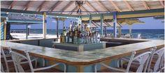 Sea Breeze Beach Bar at Nisbet Plantation on the island of Nevis.