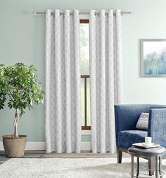 Allen Roth Selwick Grey Polyester Grommet Light Filtering Single Curtain Panel At Lowes Is A Solid Color Featuring Printed Latticework