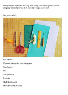 DIY :: LEATHER JOURNAL TUTORIAL BY CHING FROM L.A.R.K.