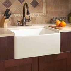"""20"""" Reinhard Fireclay Farmhouse Sink - Biscuit - Farmhouse Sinks - Kitchen Sinks - Kitchen"""