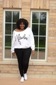 French Curves: One Item 3 ways Curvy Outfits, Hot Outfits, Plus Size Outfits, Fashion Outfits, Plus Size Fashion Blog, Curvy Girl Fashion, Plus Fashion, Awesome Shirts, Cool Shirts