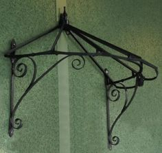 Honeysuckle cottage Over Door Canopy hand made in Wrought Iron - Verandas Porches and Canopies - Architectural Garden Pavillion & Structures - Garden & Outdoor Living - Catalogue    Black Country Metal Works