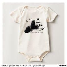 Organic Cute and Stylish Napping Panda Bodysuit