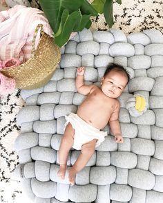 Beautiful baby girl Kaiya, chillin nudie on her Raft ☁️  #nurseryideas #interiordesign #lifeandlensblog #babyroom #styleathome #interiorinspo #dailyparenting #nurseryinspo #nursery #nurserydecor #interiorstyle #homestyle #newborn #babybedding #home #interiorliving #thebump #babybump #pregnant #pregnancy #decorforkids #braided #raft #playmat #sensoryplay #designed for #kids #interiordesign #babymat #kidsrug #toddlerroom #kidsspace #sensoryroom #designbunker #designboom #maliamu