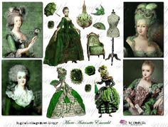 marie antoinette collage page