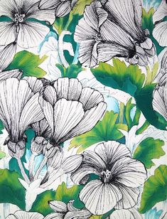 sketched flowers and some foliage | ban.do