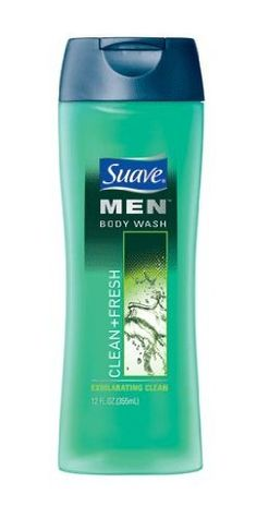 Suave Body Wash Men's Clean and Fresh, 12-ounce Bottles (Pack of 6) by Suave. $17.94. Works into a rich lather to cleanse deeply.  Rinses off clean for a refreshing skin feel.  Provides a fresh scent for clean smelling skin.