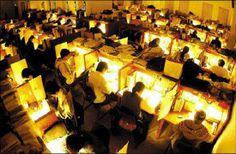 写真: ハーバード大学の自習室の朝...
