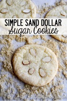 Celebrate the beach with theses Simple Sand Dollar Sugar Cookies. Plus you can make them gluten free!