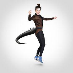 <ul> <li>Amazing Dinosaur Tail costume from TellTails</li> <li>Unleash your inner giant lizard!</li> <li>Stuffed scuba design - made to have realistic movement</li> <li>Perfect for costume parties</li> <li>Measures approx. Lizard Costume, Dinosaur Tails, Costume Parties, Dress Up, Punk, Costumes, Toys, Amazing, Design