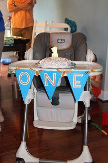 First birthday high chair banner. good idea for photos and stuff =] cute!