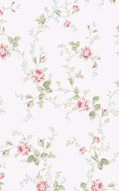 Brewster Home Fashions Willow Cottage Floral Trail Wallpaper in Pink Doll House Wallpaper, Print Wallpaper, Flower Wallpaper, Pattern Wallpaper, Art Vintage, Vintage Paper, Vintage Images, Flower Backgrounds, Wallpaper Backgrounds