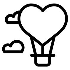 Hot Air Balloon - Free icon from IconBros Easy Doodles Drawings, Cute Easy Drawings, Mini Drawings, Art Drawings For Kids, Art Drawings Sketches, Cute Doodle Art, Cute Doodles, Balloon Balloon, Balloons