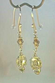 Green Skull Earrings| Swarovski Crystal Skulls|  Swarovski Green Skull Earrings|