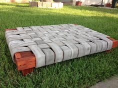 Fireman's Dog Bed Do It Yourself Home Projects from Ana White Fire Hose Projects, Fire Hose Crafts, Ana White, Raised Dog Beds, Diy Dog Crate, Outdoor Dog Bed, Dog Yard, Crate Cover, Diy Dog Bed