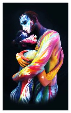LOVE - Natasha Kudashkina | Body Painting Prints