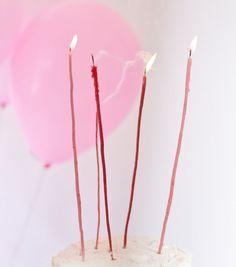 DiY long and skinny candles