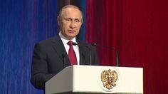 Putin Speaks at the Concert on Cosmonautics Day