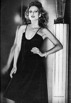 Vogue Editorial November 1973 - Christiana Steidten & Denise Hopkins by Chris von Wangenheim