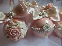 Купить Набор елочных шаров - розовый, игрушки на елку, шары на елку, шары новогодние