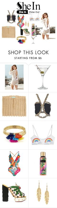 """""""tropical"""" by lenatsiati ❤ liked on Polyvore featuring Nordstrom, Melissa Odabash, Versace, Aqua, Zoe Karssen and Charlotte Olympia"""