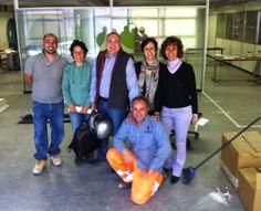 Emanuele, Lorena, Piero, Elena, Chiara e Salvatore all'opera nell'ufficio nuovo www.coopagridea.org