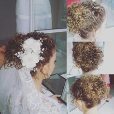 Penteado cachos noiva hairdo curls bride