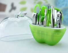 Doce bonito maçã prego ferramentas Sets aço inoxidável unhas Kits de ferramentas 9 pcs barato moda espelho prego ferramentas de maquiagem viagens Manicure Set em Assentos & conjuntos de Health & Beauty no AliExpress.com | Alibaba Group