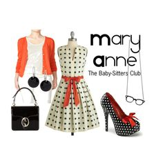 Prim outfit inspired by Mary Anne of the Baby-Sitters Club....omgosh, i can't believe i found this!!!!! Lol