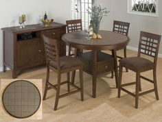 Brae - Gather the family around this transitional dining table for dinner! With storage and tiling detail, style and functionality are granted with this collection!