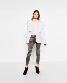 Image 1 of SKINNY TROUSERS WITH ZIPS from Zara