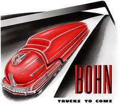 1943 ... red truck - by Radebaugh   Flickr - Photo Sharing!