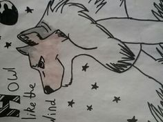A wolf drawing
