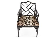 Black Lacquered Chippendale Chair on OneKingsLane.com