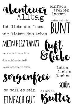 """Klartext Stempelset """"Luft & Liebe"""" von www.danipeuss.de #danipeuss  #stempeln #klartextstempel"""